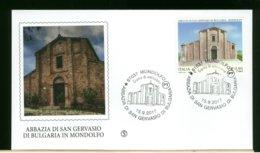 ITALIA - FDC 2017 -  MONDOLFO - ABBAZIA DI SAN GERVASIO DI BULGARIA IN MONDOLFO - 6. 1946-.. Republic