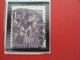"""1944-IRIS, Timbre Oblitéré N°651     """" 1f20 Violet    """"     Net        0.30 - 1939-44 Iris"""