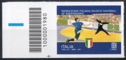 Italia 2019 - Federazione Italiana Giuoco Handball Codice A Barre MNH ** - 6. 1946-.. República