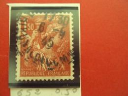 "1944-IRIS, Timbre Oblitéré N°   652  ""  1f50 Rouge Brun   ""     Net  0.50 - 1939-44 Iris"