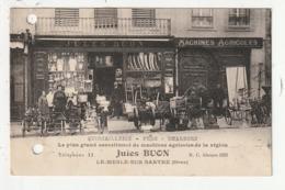 LE MESLE SUR SARTHE - QUINCAILLERIE  FERS  CHARBONS - MACHINES AGRICOLES - JULES BUON - 61 - Le Mêle-sur-Sarthe