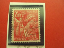 """1944-IRIS, Timbre Oblitéré N°654     """" 2f40 Rose Carminé    """"     Net   0.20 - 1939-44 Iris"""