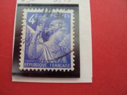 "1944-IRIS, Timbre Oblitéré N°  656   "" 4f Bleu    ""     Net   0.15 - 1939-44 Iris"
