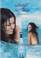 "PUBBLICITA' ADVERTISING CARTOLINA CITRUS N°76 - ""DAVIDOFF COOL WATER"" - WOMAN - Pubblicitari"