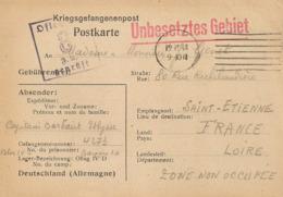 UNBESETZTES GEBIET- 1941 Prisonniers De Guerre- Destination Saint Etienne - Marcophilie (Lettres)