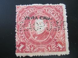 FISKALMARKE , MEXIKO 1891,  FIRMENLOCHUNG , Perfin , 2 Scans  , Selten - Mexiko