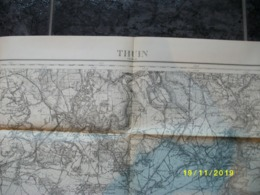 Carte Topographique De Thuin (Peissant - Marbaix - Nalinnes - Rognée - Walcourt - Beaumont - Thirimont) - Cartes Topographiques