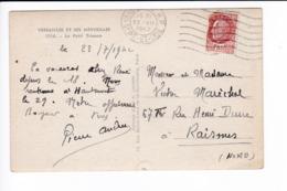 YT 517 Pétain Variété Faux ? - CP Versailles - Audun Maréchal Raismes - FRANCO DE PORT - Ohne Zuordnung