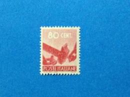 1945 ITALIA FRANCOBOLLO NUOVO STAMP NEW MNH** DEMOCRATICA 80 CENT - 6. 1946-.. Repubblica