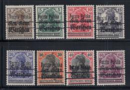 Polen 1918 Mi. 6-13 Ungebraucht * 100% Aufdruck - ....-1919 Provisional Government