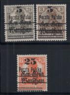 Polen 1918 Mi. 14-16 Ungebraucht * 100% Aufdruck - ....-1919 Provisional Government