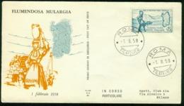 Fd Italy FDC 1958 MiNr 1004 | Inaug Of Flumendosa-Mulargia Irrigation Scheme, Sardinia - 6. 1946-.. Republic