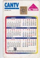 Venezuela, CAN2-0300, Calendario De Exposiciones, Calendar, 2 Scans. - Venezuela