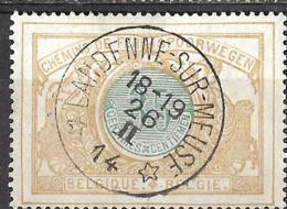 B0.62.: * LANDENNE-SUR-MEUSE * 18-19 26  II 14: N°TR33: Poststempel: Type E18-m2 : Sterstempel - Bahnwesen