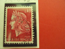 "1967-70 MARIANNE CHEFFER, Timbre Oblitéré N° 1536 B        ""   0.40 Rouge Carminé     ""   Net  0.20  Photo  2 - 1967-70 Marianne Of Cheffer"