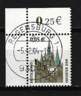 BUND Mi-Nr. 2381 Linkes, Oberes Eckandstück Erfurter Dom Gestempelt REGENSBURG - BRD