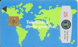 CARTE-PUCE-ARGENTINE-1990-25FICHAS--GEM-MapMONDE-TBE - Argentina