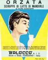 Sciroppo Di Latte Di Mandorle Orzata - Balocco, Fossano - Etiketten