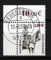 BUND Mi-Nr. 2314 Linkes, Oberes Eckandstück Bamberger Reiter Gestempelt REGENSBURG - BRD
