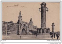 STETTIN  - HAKENTERRASSE  MIT LEUCHTTURMEN  -  (2 SCANS) - Polen