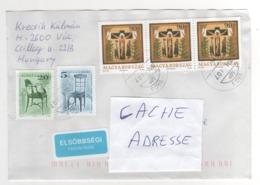 Beaux Timbres , Stamps Sur Lettre , Enveloppe  , Cover , Mail Du 07/04/2014 Pour La France - Hongrie