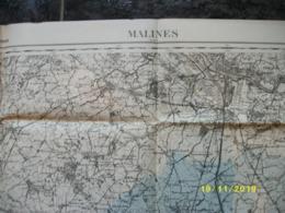 Topografische / Stafkaart Van Mechelen (Opdorp - Malderen - Lippelo - Rumpst - Hombeek - Wolvertem - Londerzeel) - Cartes Topographiques
