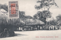 TOGO :  KPIME : Groupe De Villageois .Moto . Carte Allemande - Togo