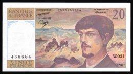 20F Debussy  1987 - W021 - NEUF - Fay : 66.8 - 1962-1997 ''Francs''