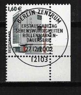BUND Mi-Nr. 2302 Rechtes, Unteres Eckandstück Bauhaus, Dessau Gestempelt - BRD