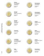 Lindner MU2E23 Multi Collect Vordruckblatt Für 2 Euro-Gedenkmünzen: Estland 2019 - Deutschland 2019 - Materiaal