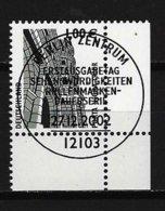 BUND Mi-Nr. 2301 Rechtes, Unteres Eckandstück Porto Nigra, Trier Gestempelt - BRD