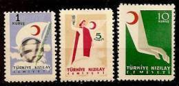 1954 TURKEY TURKISH RED CRESCENT ASSOCIATION CHARITY STAMPS MNH ** - 1921-... Repubblica