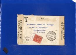 ##(DAN1911/1)-12-7-1941- Busta Non Affrancata Con Contenuto Da S.Margherita (Udine) Per New York-USA Censurata E Tassata - 1900-44 Victor Emmanuel III