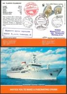 """W30 Russia 1992 1261 Ship """"Claudia Elanskaya"""". Arctic Cruise-92. Polar Bear. WWF - Bears"""