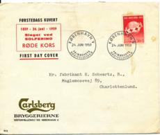 Denmark FDC 24-6-1959 RED CROSS Carlsberg Cover - Red Cross