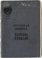 1959 USSR GEORGIA Bilingual Employment Record Book / трудовая книжка CCCP - Documents Historiques