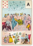 Carte à Jouer 12,8 X 9 Cm Astronomie ? Divination ? Tarot ? Lettre A - Non Classés