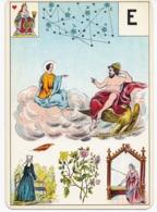 Carte à Jouer 12,8 X 9 Cm Astronomie ? Divination ? Tarot ? Lettre E - Ohne Zuordnung