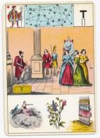 Carte à Jouer 12,8 X 9 Cm Astronomie ? Divination ? Tarot ? Lettre T - Ohne Zuordnung