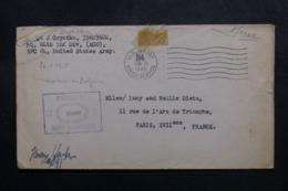 ETATS UNIS - Enveloppe En FM De  US Army Pour La France En 1945 Avec Cachet De Contrôle Postal - L 47499 - Marcophilie