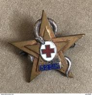 Insigne 32° SIM Section Infirmiers Militaires Service De Santé AFN - Armée De Terre