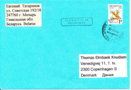 Belarus Cover Sent To Denmark 22-12-2008 Single Franked - Belarus