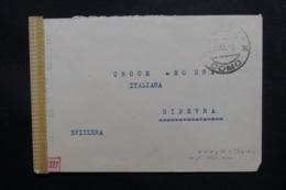 ITALIE - Enveloppe En Franchise De Como Pour La Suisse En 1943 Avec Contrôle Postal - L 47503 - 1900-44 Victor Emmanuel III
