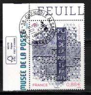 France 2019.Provenant De Le Feuille Habillée.Musée De La Poste.Cachet Rond Gomme D'origine.Tirage 4000 - France