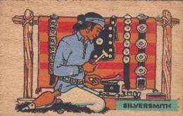 Wooden Postcard; Navajo Indian Silversmith , 30-40s - Native Americans