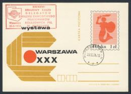 Poland Polska Polen 1976 Karte Card – XIII / XII Nat. Kongress Delegierten Der Gewerkschaft Eisenbahner PRL, Warschau - Treinen