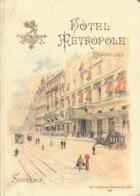 RARE 1894 Guide Souvenir Hôtel Métropole à Bruxelles Café Restaurant - Dépliants Touristiques