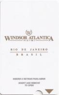 BRASILE   KEY HOTEL  Windsor Atlantica Hotel  - RIO DE JANEIRO - Hotelkarten