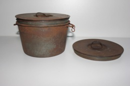 Gamelle Individuelle Mle 1852 + Plat + 1 Couvercle Supplémentaire - 1914-18