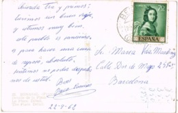 34668. Postal  BENASAL (Castellon) 1962. Vista De La Plaza, Fuente En SEGURES - 1931-Hoy: 2ª República - ... Juan Carlos I